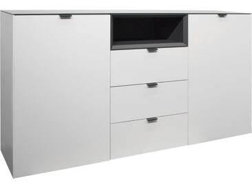 Mäusbacher Sideboard »Micelli«, Breite 177 cm, weiß, weiß matt/anthrazit matt lack
