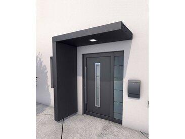 GUTTA Vordach-Set »BS 200«, 200 cm, mit Seitenteil, Aluminium anthrazit, grau, 200 cm, grau