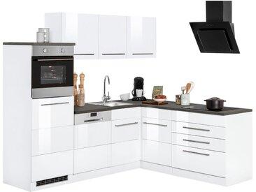 Winkelküche »Trient«, ohne E-Geräte, Stellbreite 230 x 190 cm, weiß, weiß Hochglanz