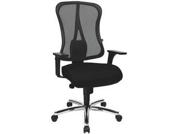 TOPSTAR Bürostuhl ohne Armlehnen mit verchromten Fußkreuz »Art Comfort Net«, schwarz, schwarz