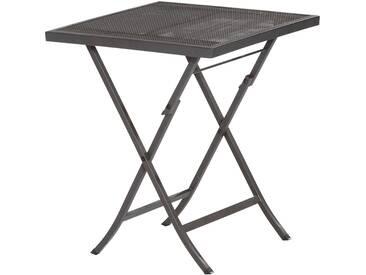 MERXX Gartentisch »Samos«, Stahl, klappbar, 60x60 cm, graphit, schwarz, 60 cm x 60 cm, schwarz