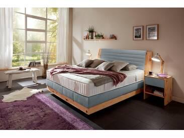 ADA premium Boxspringbett »Chalet«, Grand Comfort TF 1000 PM, blau, 7-Zonen-Tonnentaschenfederkern-Partnermatratze H2/H3, blau-grau TID 9