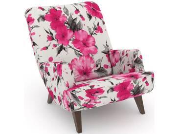 Max Winzer® build-a-chair Loungesessel »Borano« im Retrolook, zum Selbstgestalten, rosa, Korpus: Microvelours Blüte pink, Microvelours Blüte pink
