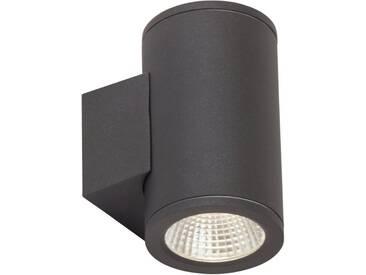 AEG Leuchten LED Außen-Wandleuchte »ARGO«, 2-flammig, grau, 2 -flg. / Ø10,5 cm, anthrazit