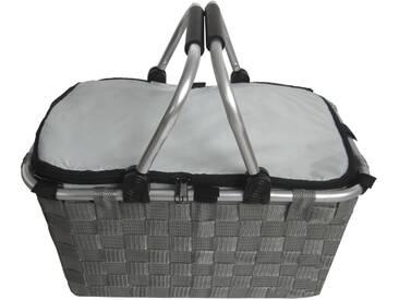 Franz Müller Flechtwaren Klappbox, Thermotasche mit Reißverschluss, grau, grau