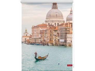 LICHTBLICK Seitenzugrollo »Klemmfix Motiv Venedig Canal Grande«, Lichtschutz, ohne Bohren, freihängend, bedruckt, blau, Seitlicher Kettenzug, blau