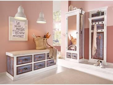 Home affaire Garderobenschrank, »Vintage«, in zwei Farben, weiß, weiß
