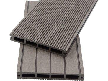 HOME DELUXE Komplett-Set: WPC-Terrassendielen , inkl. Unterkonstruktion, 1 m², hellgrau, grau, 0.33 m², grau