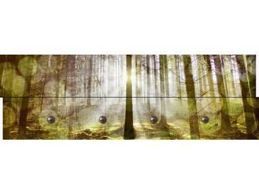 Artland Wandgarderobe »Hubert Körner: Birkenwald - Abstrakter Look«, grün, 30 x 90 x 2,8 cm, Grün