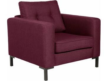 Max Winzer® Sessel »Timber« mit dekorativen Knöpfen, inklusive Zierkissen, rot, burgund
