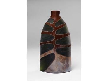 KARE Design Vase »Leaf«, grün, Maße (B/T/H): 15,5/8/29 cm, grün