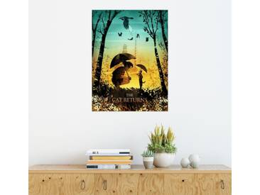 Posterlounge Wandbild - Albert Cagnef »The Cat Returns«, bunt, Holzbild, 120 x 160 cm, bunt