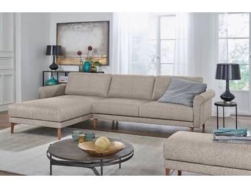 Hülsta Sofa hülsta sofa Polsterecke »hs.450« im modernen Landhausstil, Breite 282 cm, grau, Recamiere links, graubeige/natur
