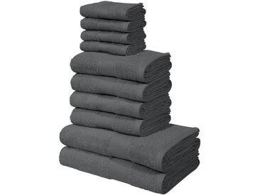 my home Handtuch Set »Ally« (Set, 10-tlg), in dezenten Unifarben, grau, anthrazit