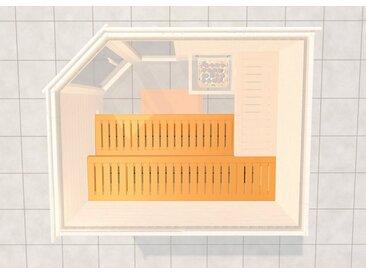 weka WEKA Saunabank »2«, BxL: 57x230 cm, natur, 57 cm x 12 cm x 230 cm, natur