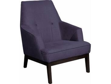 TOM TAILOR Sessel »COZY«, im Retrolook, mit Kedernaht und Knöpfung, Füße wengefarben, lila, purple STC 18