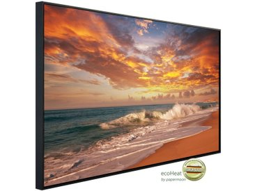 Papermoon PAPERMOON Infrarotheizung »EcoHeat - Sonnenuntergang Strand«, Aluminium, 900 W, 74 x 120 cm, mit Rahmen, bunt, bunt