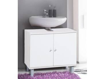 VCM Badunterschrank Wascho Weiß, weiß, Weiss-Weiss