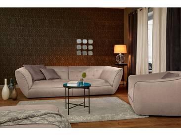 Guido Maria Kretschmer Home&Living Big-Sofa »Nida«, inklusive Zierkissen, natur, 276 cm, beige/kakao