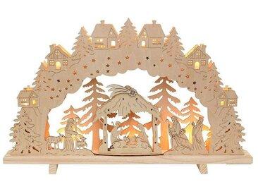 SIGRO Holz Schwibbogen »Krippe«, natur, Natur