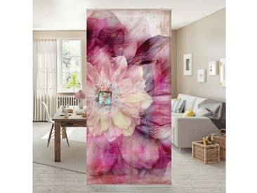 Bilderwelten Raumteiler 250x120cm »Grunge Flower«, rosa, ohne Halterung, Pink