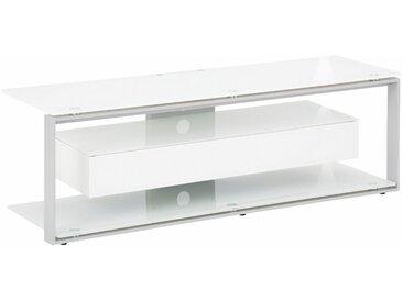 Maja Möbel TV-Rack »JOICE 5202«, Breite 130 cm, grau, Metall platingrau-Weißglas
