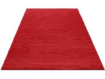 my home Hochflor-Teppich »Bodrum«, rechteckig, Höhe 30 mm, rot, 30 mm, rot
