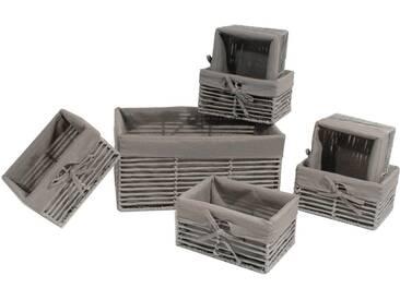 Franz Müller Flechtwaren Aufbewahrungsbox (Set, 7 Stück), grau, 1118x2139x1626 cm, grau