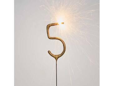 BUTLERS MAGIC MOMENTS »Wunderkerze Ziffer 5«, Höhe 19,1 x Breite 6,4 cm