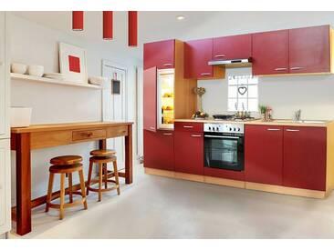 RESPEKTA Respekta Küchenleerblock »Basic«, Breite 270 cm, rot, ohne Aufbauservice, buchefarben/rot