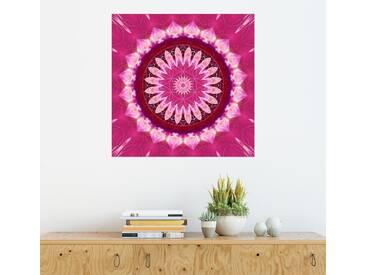 Posterlounge Wandbild - Christine Bässler »Mandala rosa Blüte mit Blume des Lebens«, rosa, Alu-Dibond, 120 x 120 cm, pink