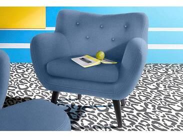 INOSIGN Sessel im Retro-Style, blau, blau