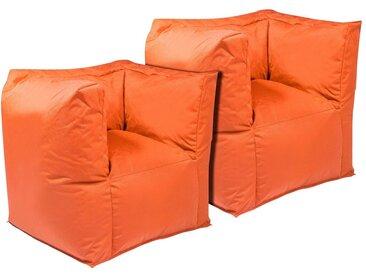OUTBAG Sitzsack »Valley Plus«, wetterfest, für den Außenbereich, BxT: 90x60 cm, orange, orange