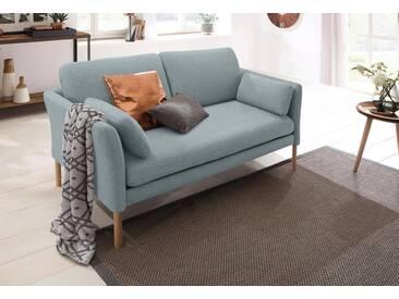 andas 2-Sitzer »Helsingborg«, in skandinavischem Design in 2 Bezugsqualitäten, Federkern, grün, 174 cm, grau-mint