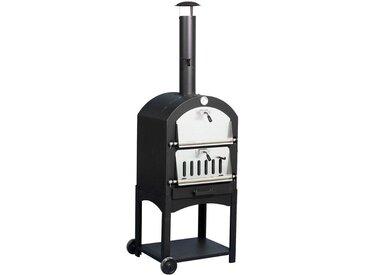 El Fuego EL FUEGO Pizzaofen »Napoli«, BxTxH: 56x38x35 cm, schwarz, schwarz