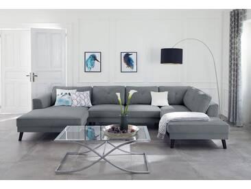 Guido Maria Kretschmer Home&Living Wohnlandschaft »Bilge«, grau, 360 cm, Ottomane rechts, grau
