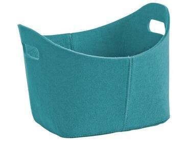 Zeller Present Zeller Filzkorb , oval, blau, petrol