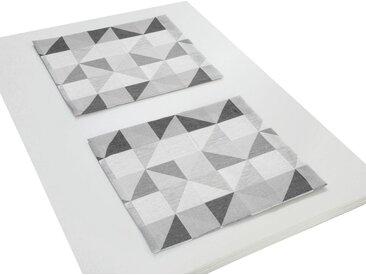 Wirth Platzset, »BERLARE«, (Packung, 2 St), grau, Polyester,Baumwolle, dunkelgrau