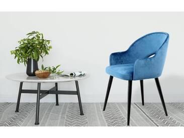 Kayoom Stuhl »Joris« (2er-Set), blau, Maße (B/T/H): 56/47/78 cm, blau