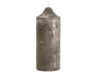 BUTLERS FANCY FLAME »Stumpenkerze«, taupe, Höhe 25 cm, Ø 10 cm