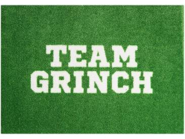 MINT RUGS Fußmatte »Team Grinch«, rechteckig, Höhe 7 mm, In- und Outdoor geeignet, waschbar, grün, 7 mm, grün