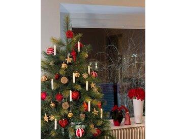 KONSTSMIDE Konstsmide LED Baumbeleuchtung, kabellose Kerzen, weiß, Lichtquelle Warm weiß, 10 LEDs, weiß