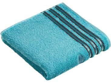 Vossen Handtücher »Cult de Luxe«, mit Glanzbordüre, blau, Walkfrottee, light azure