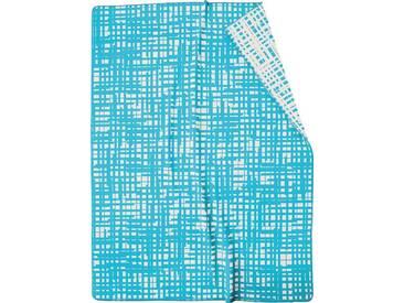 BIEDERLACK Wohndecke »Sketsch«, mit besonderem Muster, blau, Baumwolle-Kunstfaser, blau