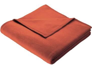 BIEDERLACK Wohndecke »Uno Cotton«, mit Veloursband, orange, Baumwolle-Kunstfaser, orange