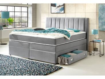 ATLANTIC home collection Atlantic Home Collection Boxspringbett, mit Bettschubkasten, grau, Bonnell-Federkern H2, grau