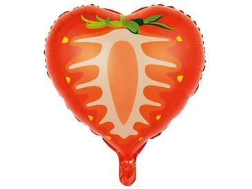 BUTLERS UPPER CLASS »Folienballon Erdbeere«, Länge 51 x Breite 47 x
