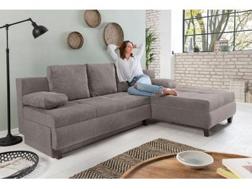 home affaire ecksofa aila mit bettfunktion und bettkasten braun braun