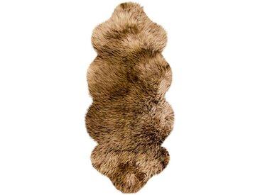 Heitmann Felle Fellteppich »Lammfell KK 1,5«, fellförmig, Höhe 70 mm, echtes Austral. Lammfell, Farbe braun mit hellbraunen Spitzen