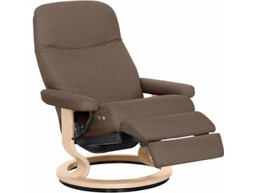 Stressless® Relaxsessel »Garda« mit Classic Base und LegComfort™, Größe L, mit Schlaffunktion, natur, Fuß naturfarben, dark beige